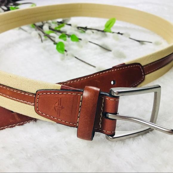38bda0997b127 Dockers Accessories | Mens Canvas Genuine Leather Belt | Poshmark